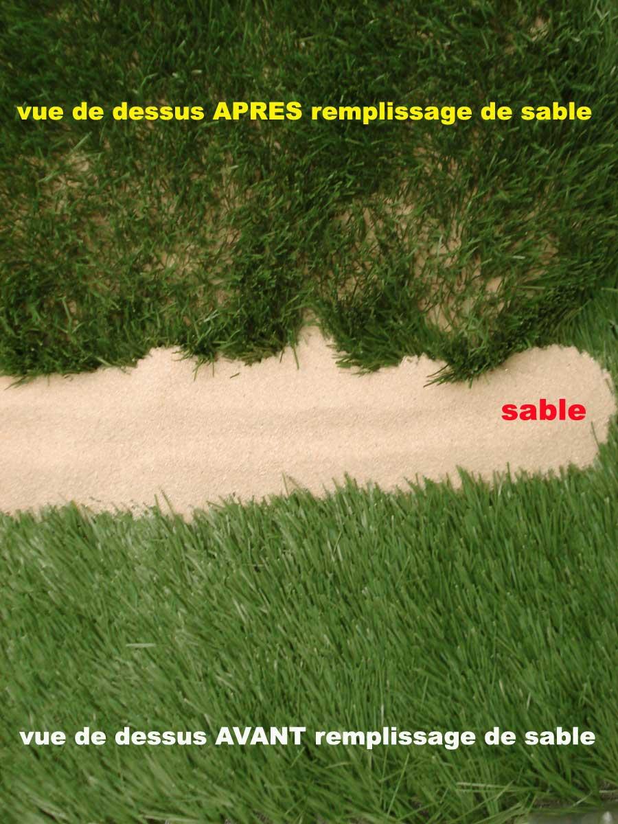 Quel sable pour gazon synthétique